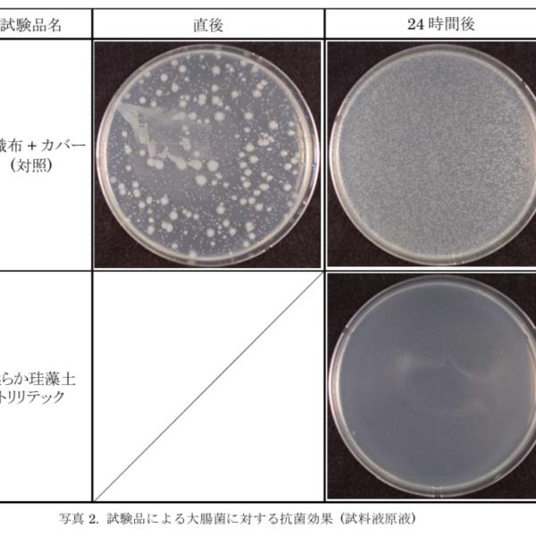 トリリテック抗菌テスト結果写真をご覧いただけます!